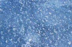 Bevroren water van luchtbellen Stock Afbeelding