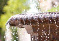 Bevroren waterdalingen in lucht Royalty-vrije Stock Afbeeldingen