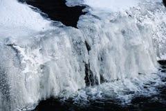 Bevroren waterval Royalty-vrije Stock Foto's