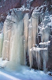 Bevroren waterval Royalty-vrije Stock Fotografie