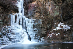 Bevroren waterval-1 Royalty-vrije Stock Afbeeldingen
