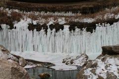 Bevroren waterval Stock Fotografie