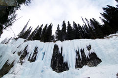 Bevroren waterval royalty-vrije stock afbeelding