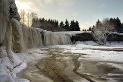 Bevroren watervallen Royalty-vrije Stock Foto's