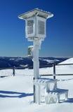 Bevroren weerstation stock afbeelding
