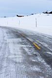 Bevroren Weg, Noorwegen Stock Afbeelding