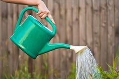 Bewässerung der Getreide Stockfotos