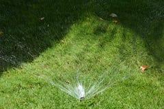 Bewässerung des Rasens Lizenzfreie Stockfotos