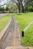 Bewässerung im Garten stockbild