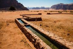 Bewässerung in Wadi Rum Lizenzfreie Stockfotos