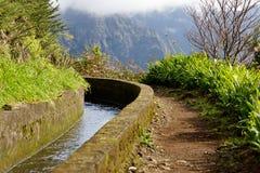 Bewässerungkanal, levada Lizenzfreie Stockfotografie