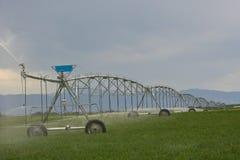 Bewässerungpumpen auf den Gebieten Lizenzfreie Stockfotografie