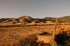 Bewässerungsabflussrinne Stockfotografie