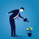 Bewässerungsgeldanlage des Geschäftsmannes Lizenzfreie Stockbilder