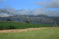 Bewässerungssystem auf südafrikanischem Bauernhof Stockbild