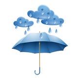 Schutz gegen Regen vektor abbildung