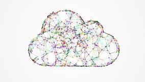 Bewölken Sie Technologie und die Datenverarbeitung, Internet von Sachen vektor abbildung