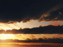 Bewölkt Himmelsonnenuntergang 3d CG stock abbildung
