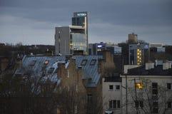 Bewölkte Himmel über Vilnius lizenzfreie stockbilder