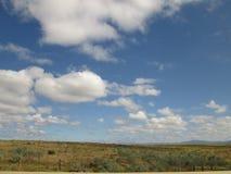 Bewölkte Landschaft Stockbild