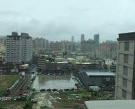 Bewölkte Skyline in Taiwan Lizenzfreies Stockfoto