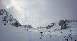 Bewölkte Zeit auf dem Gletscher Lizenzfreies Stockfoto