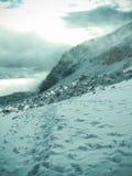 Bewölkter Berg Chachani stockfotos