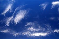Bewölkter blauer Himmel Stockfotografie