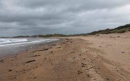 Bewölkter Herbsttag in dem Ozean Stockbild