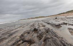 Bewölkter Herbsttag in dem Ozean Stockfotos
