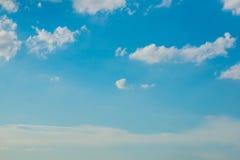Bewölkter Hintergrund des blauen Himmels Stockfoto