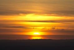 Bewölkter Sonnenuntergang Lizenzfreie Stockfotos