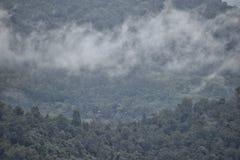 Bewölkter Tag an den Hügeln stockfotografie