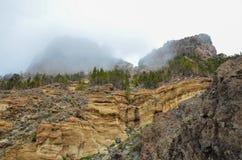 Bewölkter Tag in Nationalpark EL Teide Stockfotos