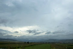Bewölkter Tag vor dem Regen Stockfoto