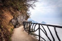 Bewölkter Tian Men Mountains in Zhangjiajie Stockfoto