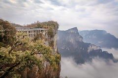 Bewölkter Tian Men Mountains in Zhangjiajie Lizenzfreie Stockfotografie