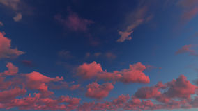 Bewölkter Zusammenfassungshintergrund des blauen Himmels, Illustration 3d Stockfotos