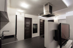 Bewölktes Haus - Badezimmerspiegel Lizenzfreies Stockbild