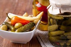 Bewaarde groenten Stock Afbeeldingen