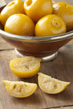 Bewaarde Marokkaanse citroenen Stock Fotografie