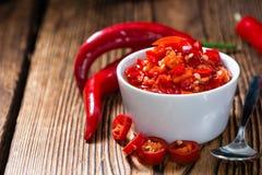 Bewaarde rode Chilis royalty-vrije stock fotografie