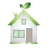 Bewaart de huis groene lage energie het woord Stock Afbeelding