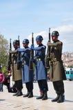 Bewaffnete Soldaten Stockfotos