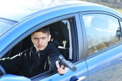 Bewaffneter Bandit Lizenzfreie Stockfotografie