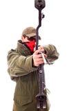 Bewaffneter Bogenschütze Stockfoto