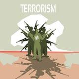 Bewaffneter Terrorist Group Terrorism Concept Lizenzfreies Stockfoto