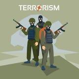 Bewaffneter Terrorist Group Terrorism Concept Lizenzfreie Stockfotos