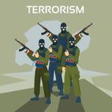 Bewaffneter Terrorist Group Terrorism Concept Lizenzfreie Stockfotografie