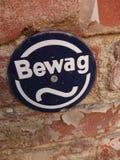 Bewag柏林标志 库存图片